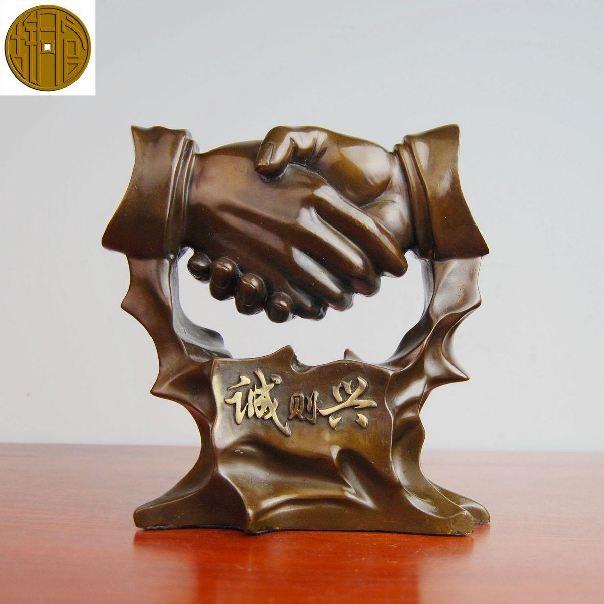 Old antique Bronze Arts & Crafts Bronze decoration desk opening gifts copper decoration crafts