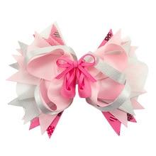 6 pcs 5 Inch Ballet Shoes Hair Bows Head Wear Fashion Cute Girls Hairclips Handmade Boutique Ribbon Accessories Hairgrips