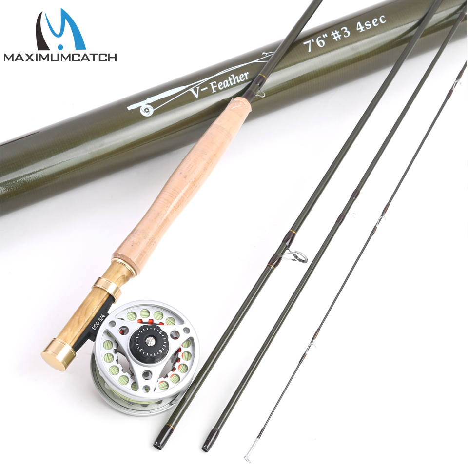 Maximumcatch 1/2/3 WT Fly Fishing Combo Carbon Fiber Fly Fishing Rod & Reel Fly Fishing Outfit maximumcatch 5wt 9ft fly fishing outfit fly rod fly fishing combo