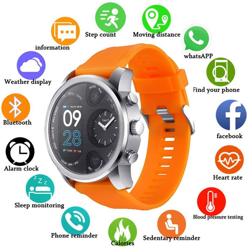 2019 Гибридный Смарт часы для мужчин женщин сердечного ритма мониторы приборы для измерения артериального давления фитнес трекер Smartwatch Спор...