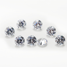10PCS/pack Wholesale Size Price 0.8~2.5mm Round Cut Lab Grown Loose Moissanite Stone Test Positive