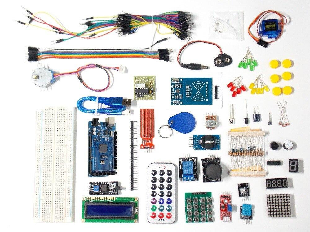 Mega 2560 r3 kit de démarrage servomoteur RFID relais à ultrasons LCD