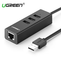 Ugreen USB 2 0 Ethernet 10 100 Mbps Rj45 Network Card Lan Adapter 3 Port USB
