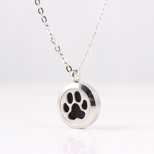 clicking animal lockets you rose cute details heart pendant print on the paw get more memory love dog can pin living gold by plated necklace