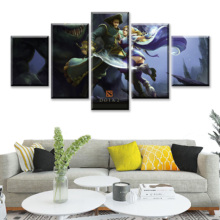 5 Piece HD Picture DOTA2 Video Game Poster Decoration Wall Sticker Lina Paintings Artwork Canvas Art for Home Decor