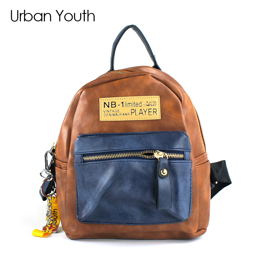 Urban Youth High Quality Women Silver Backpack Glossy Backpacks For Teenage Girls PU Leather Bag Students