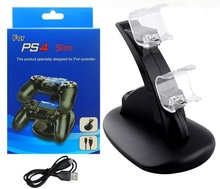 PS4 GT Carregador Duplo Doca de Carregamento USB para PS4 Jogo Duplo Pega Dupla Carga Dock Suporte para Sony PlayStation PS4 4