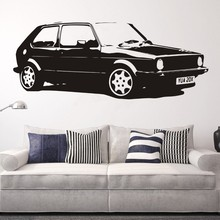 Removable Vintage XL Large Car VW Golf GTI Mk1 Classic Wall Art Decal Sticker Home Decoration Mural Paper A-100