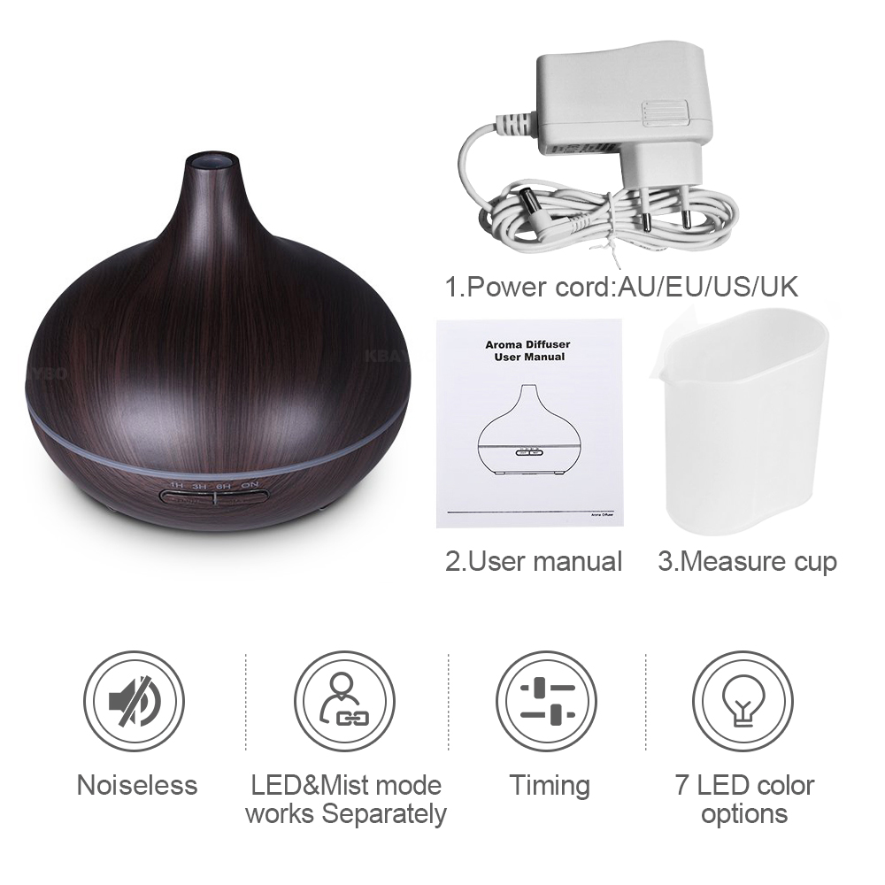 Luft Luftfugter Essential Olie Diffuser Aroma Lamp Aromaterapi - Husholdningsapparater - Foto 6