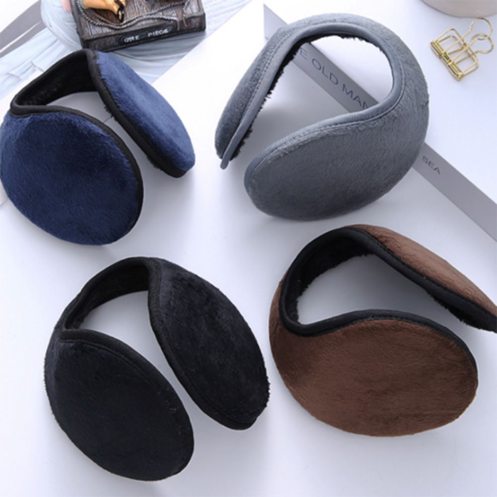 Unisex Man Plush Earmuffs 10cm Winter/autumn Warm Earmuffs Black/navy Women Ear Antifreeze