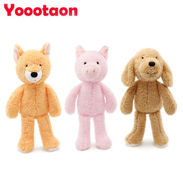 YOOOTAON kawaii animal dolls & stuffed toys for children girls & boys brinquedos plush baby kids toys teddy bear/Elephant/panda