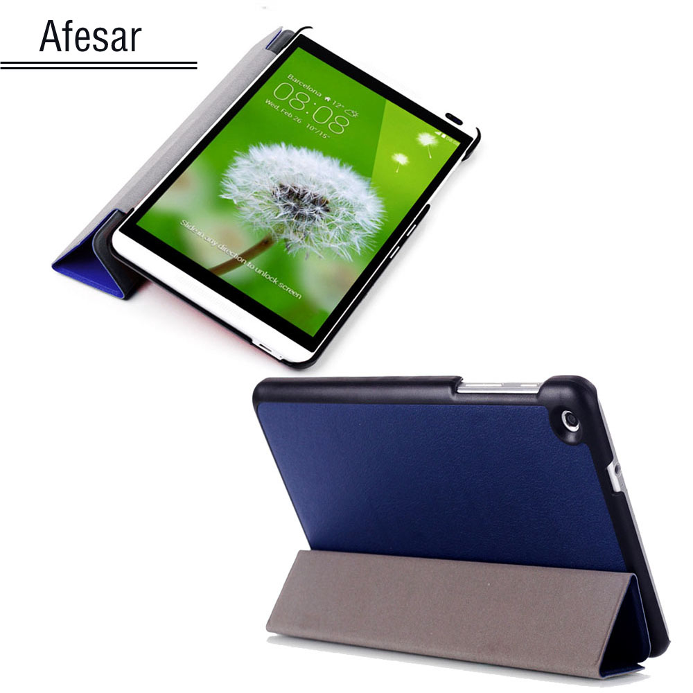 Free Ship Para Ultra Slim Case For Huawei Mediapad M1 8.0 Tablet Smart Shell Cover S8-301W S8-301U S8-303L Magnet Closured Stand