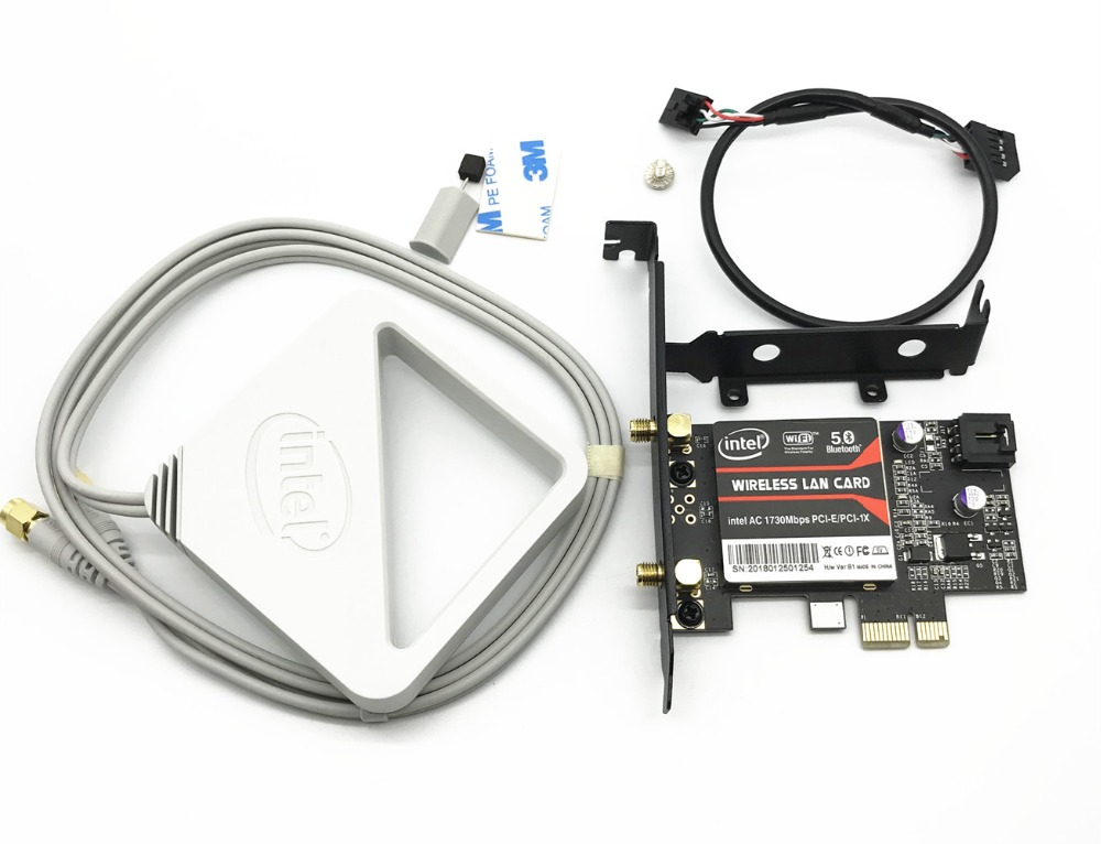 With Intel External Antenna 9260 AC 9260AC 9260NGW MU-MIMO Bluetooth 5.0 PCI-E PCIe 1x X1 Desktop Card