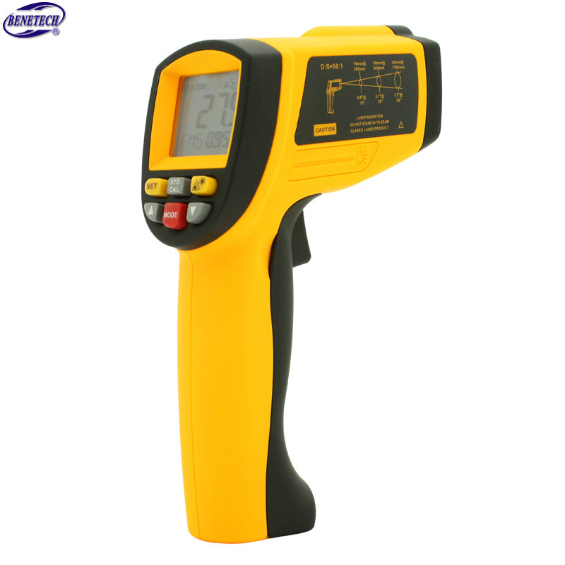 ФОТО GM1150A Non-Contact Laser LCD Display Digital IR Infrared Thermometer Temperature Meter Gun Point -18~1550 Degree
