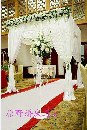 333m wedding decoration reception hall with matched stainless 333m wedding decoration reception hall with matched stainless steel stand banquet favors canopy drapesinclude standcurtain in party backdrops from home junglespirit Gallery