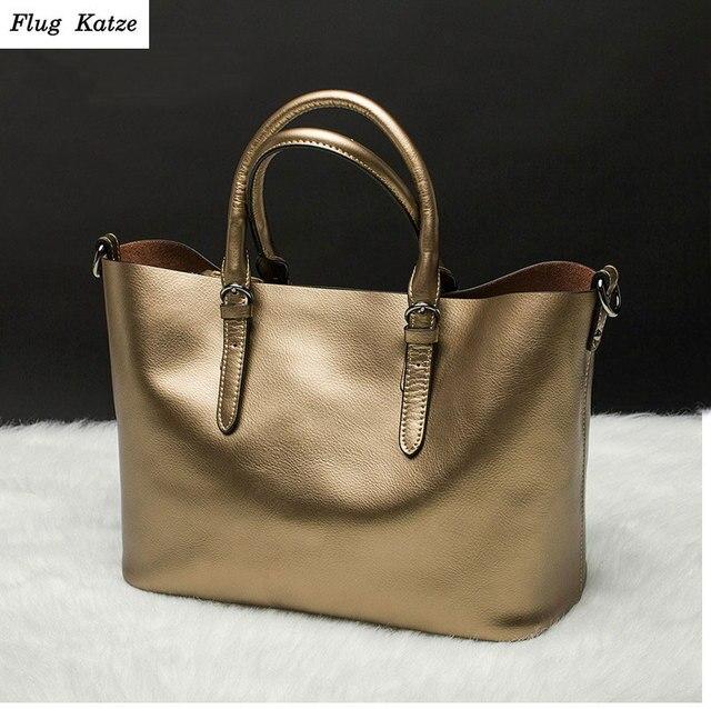 Flug katze 100% LUXURY Genuine Leather Women Shoulder Bag Brand Designer Cowhide genuine leather handbags Skin Crossbody bag