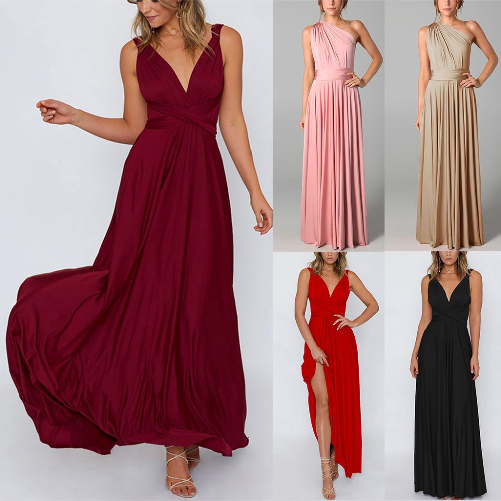 Women's Clothing Selfless Summer Dress Female Sexy Sleeveless Solid Color Casual Holiday Beach Party Long Dress 47045#11 To Ensure Smooth Transmission