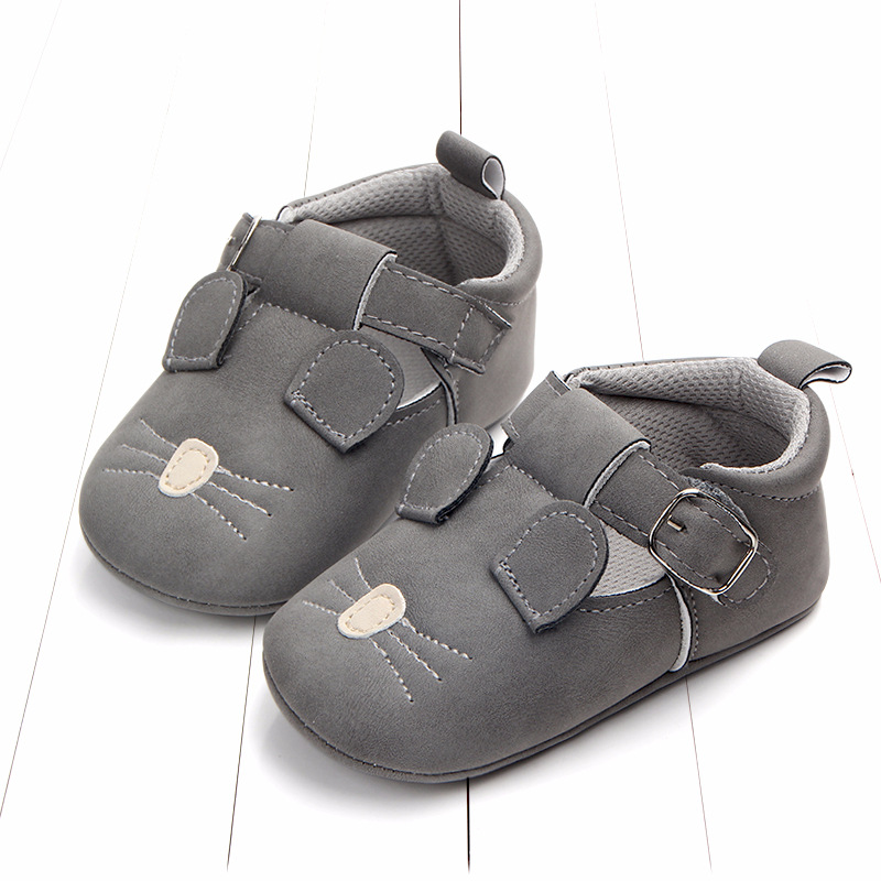 Baby First Walkers Matte leather Shoes for Baby Girl Boy Cartoon Animal Newborn Slippers Footwear Booties Kids Gift Child Shoes (12)
