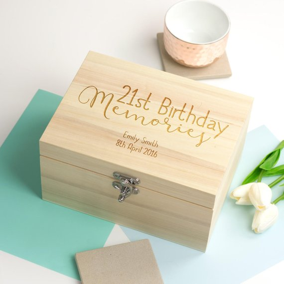 Us 15 28 15 Off Personalize Any Name Birthday Anniversary Wooden Memory Box Bespoken Box Keepsake Gift Boxes Customize Wedding Storage Container In