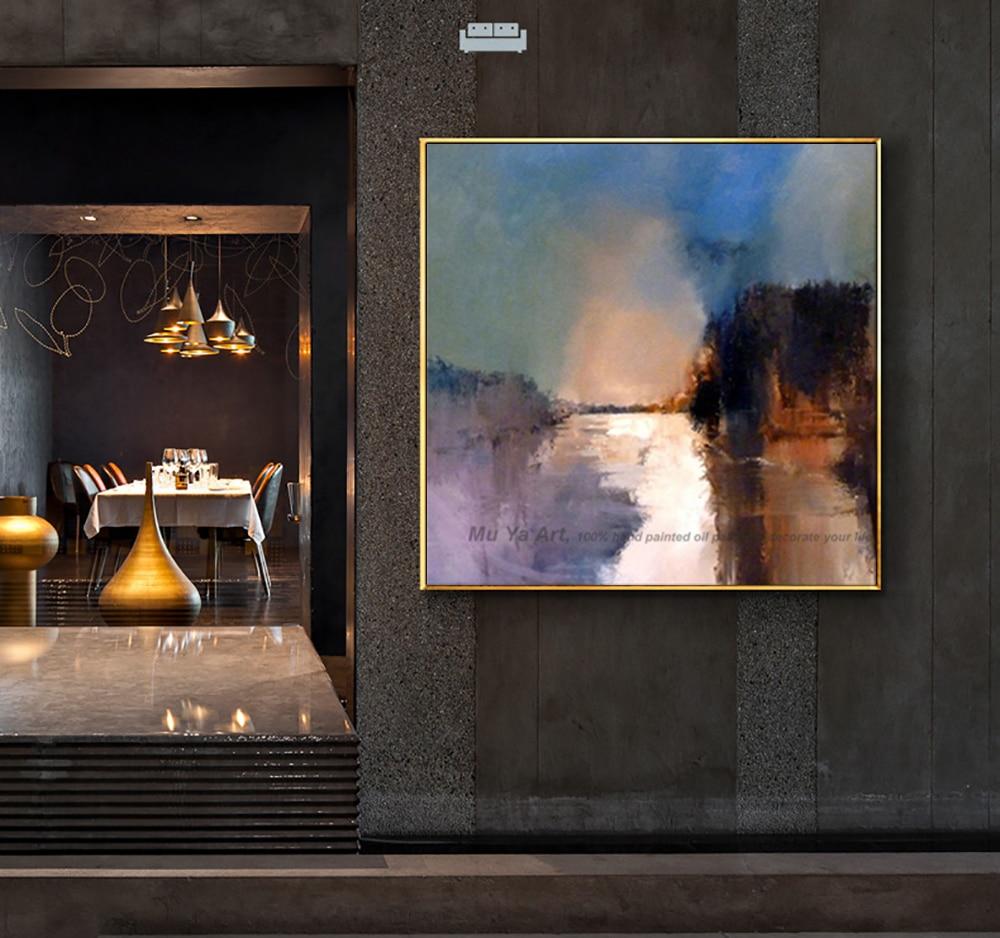 Art décoratif à la main peinture à l'huile sur toile abstrait paysage mur photo peinture salon cuadros decoracion abstraite