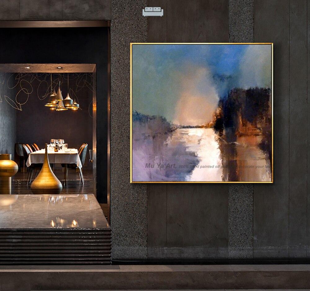 Dekorative kunst handgemachte ölgemälde auf leinwand abstrakte landschaft wand bild malerei wohnzimmer cuadros decoracion abstracta