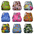 JinoBaby Reusable Diapers,10PCS One Size Baby Cloth Diaper Cover Fits for Newborn to 15KGS