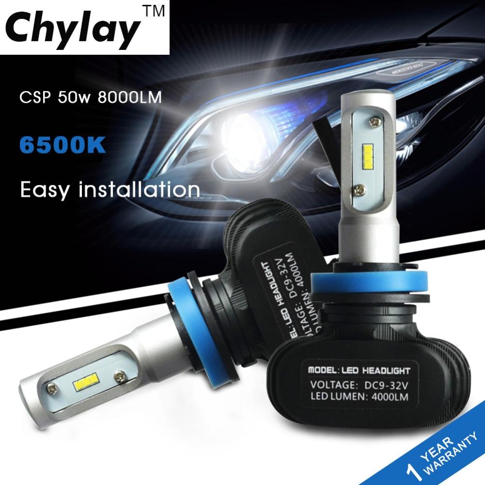 Super bright H11 Led  car headlight bulbs H8 H9 Auto lamp 50W 6500K - Car Lights