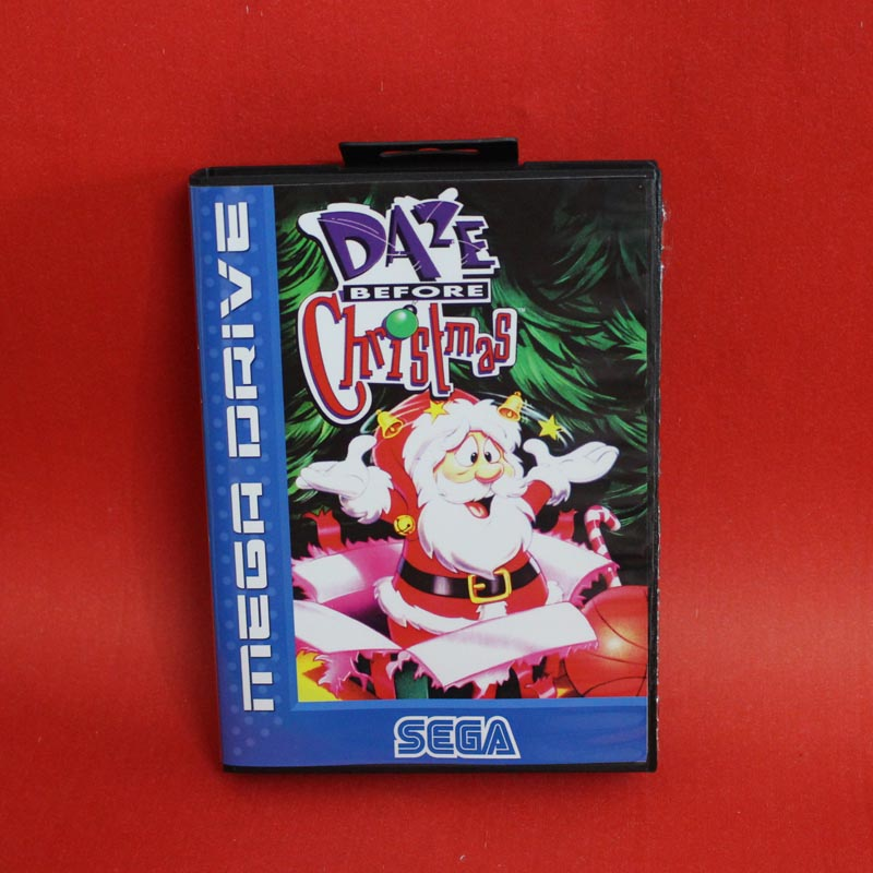 Daze Before Christmas 16 bit MD card with Retail box for Sega MegaDrive Video Game console system