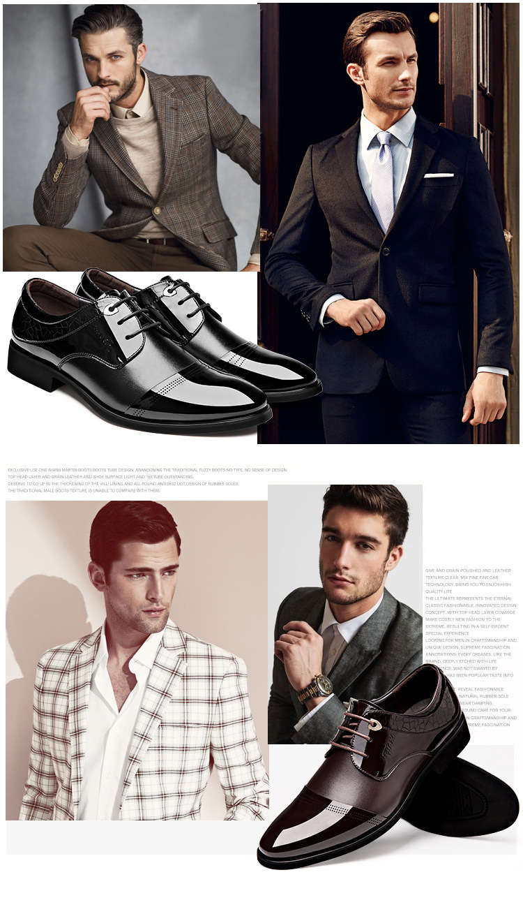 4a58ed8a2 2017 الأزياء الإيطالية الفاخرة اللباس رجالي أحذية جلد طبيعي أسود ...