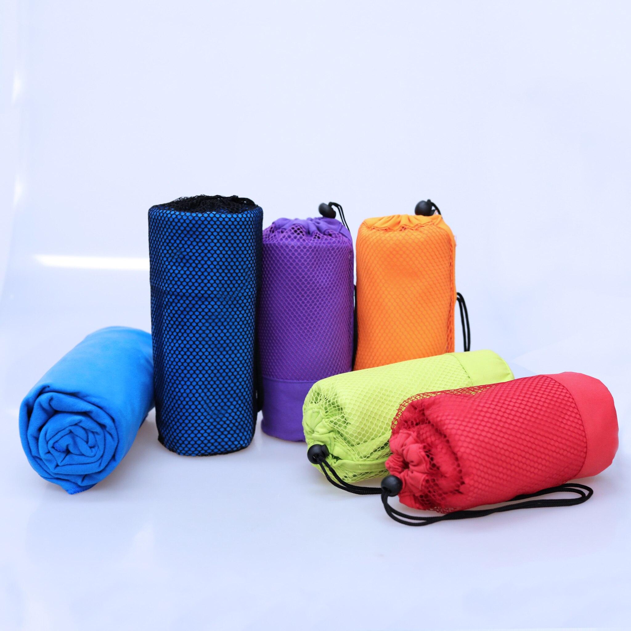 Dropshipping ginásio toalha 70x130cm tamanho maior esportes toalha com saco de microfibra natação viagem toalha de esportes