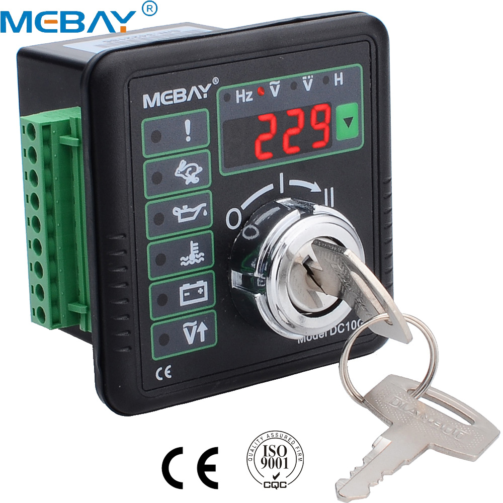 DC10G Engine Manual Start Controller with Hz Volt Battery Voltage and Accumulation Time Display with CE