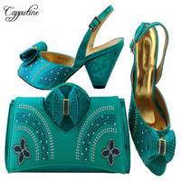 Newest Italy Summer Shoes And Bag To Match Set Fashion Designer Pumps Shoes And Bag Set