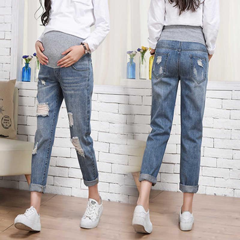 Джинсы для беременных свободные штаны для беременных женская одежда брюки для кормления грудью пояс для беременных Одежда Комбинезоны