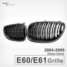 5 série e60 e61 remplacement en fiber de carbone pare-chocs avant grille grill pour bmw 5 série 2004-2009 e60 e61 530i