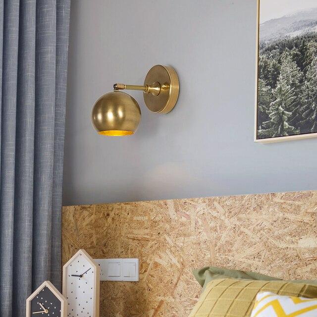Preis überprüfen JAXLONG Nordic Retro Kupfer Wand Lampe Schlafzimmer ...