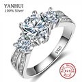 Fine Jewelry Ring Silver Real 925 Sterling Silver Wedding Rings Set 1 Carat SONA CZ Diamond Engagement Rings For Women JZR005