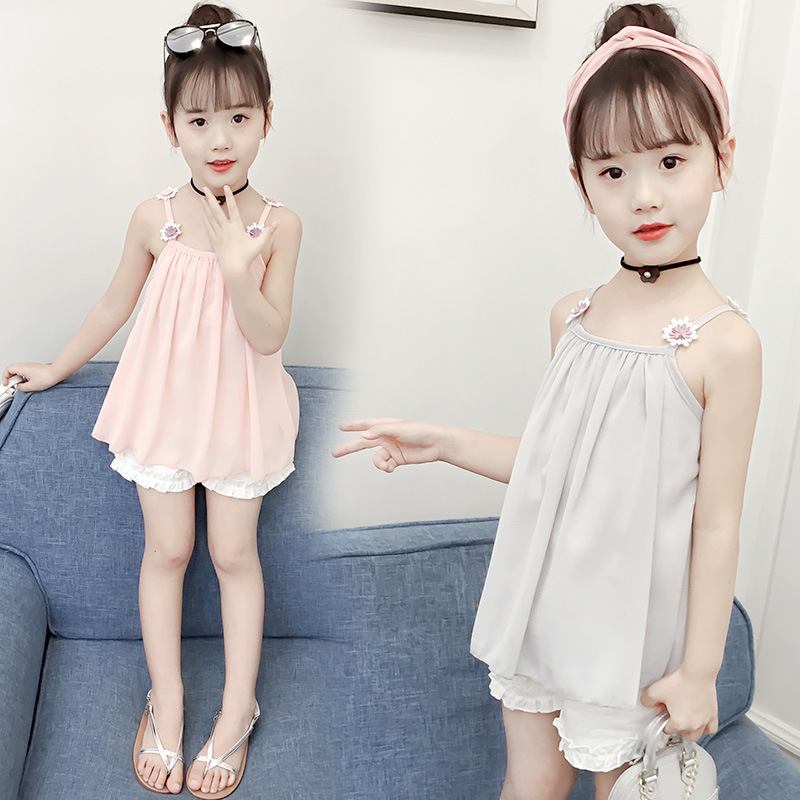 4091163e1ac Children s Garment Girl Suit Summer Wear New Pattern Korean Children Summer  Girl Western Style Fashionable Twinset-in Clothing Sets from Mother   Kids  on ...