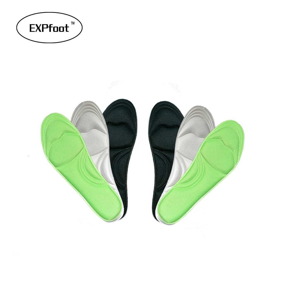 4 Pairs Memory Foam Insole Custom Foot Massage Insoles Plantar Plantillas Para Los Pies Memory Foam Insole Women and man кольцо с тонированным кварцем мотылек кнкр 2758
