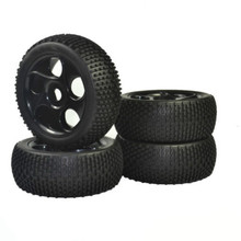 цены 1/8 RC Crawler Rubber Tires 17mm Hub Hex Wheel Rim Rubber Tires for Buggy Off-Road Car Truck Car