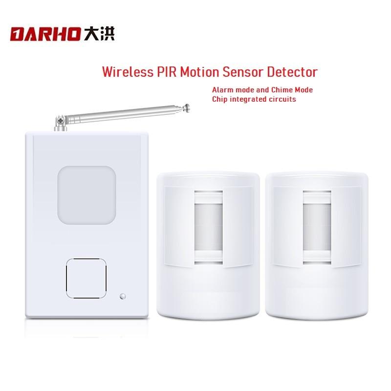 Darho dispositivo bem-vindo loja bem vindo chime infravermelho sem fio ir sensor de movimento campainha da porta alarme entrada alcance 300m