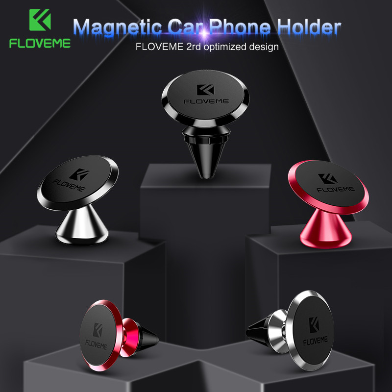 FLOVEME Magnetic-Phone-Holder Phone-Stand-Support iPhone Air-Vent Samsung S8 Car