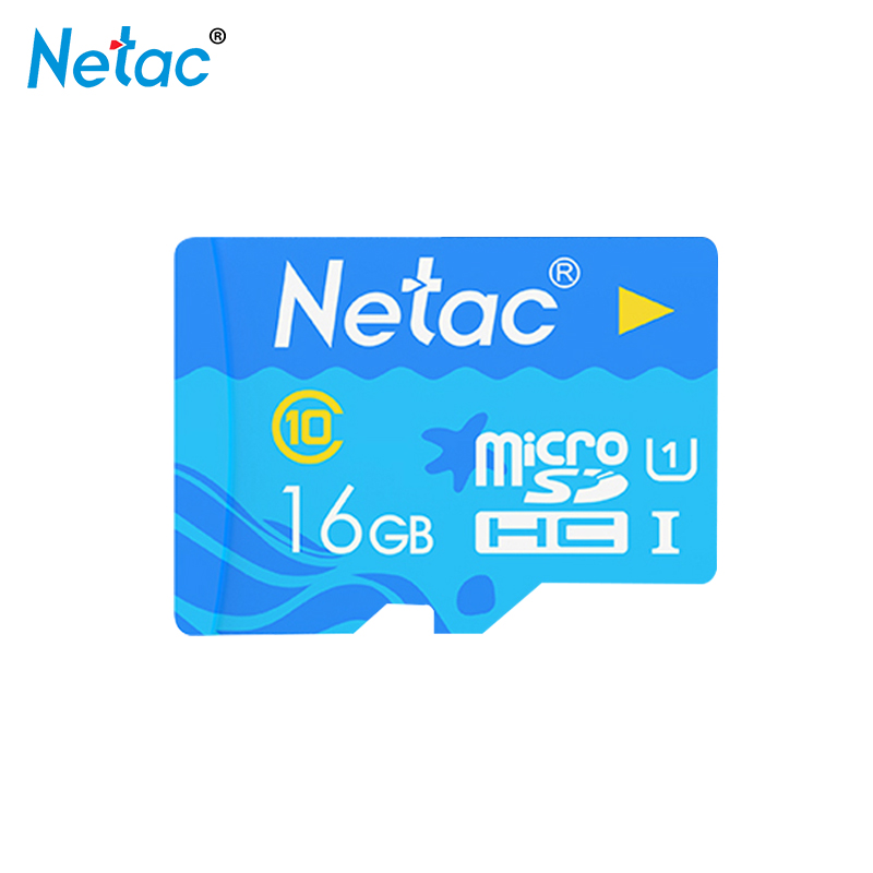 Netac Micro SD Card Blue Memory Card 16GB 32G 64GB Class 10 TF Card 16gb For Phone Table Trans Flash Card Free Shipping