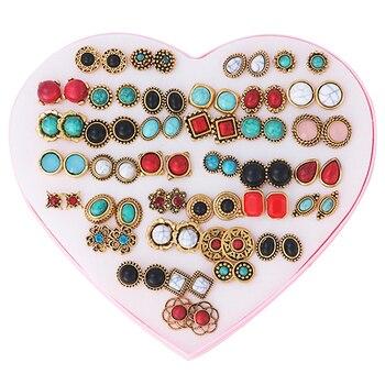 7ad6bf8cb53d U7 corazón Pendientes para las mujeres joyería de moda oro color acero  inoxidable 3 par Pendientes de broche al por mayor e776