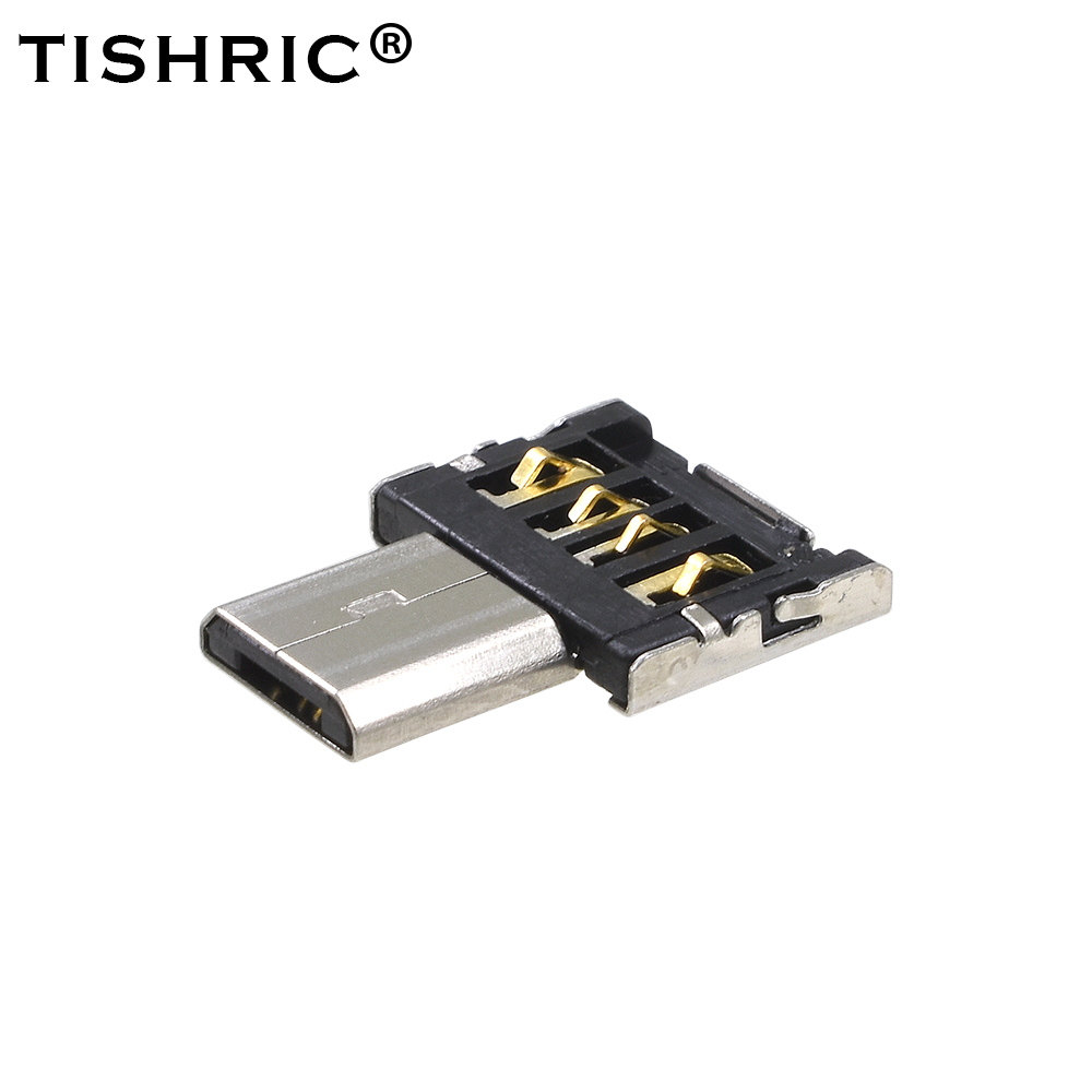 TISHRIC OTG Micro USB OTG Type-C Adapter USB Type C USB 3.0 Charge Data Converter OTG Cable For  Keyboard Mouse USB DIsk Flash