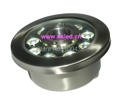 Stainless steel,good quality,high power 9W LED pool light,LED underwater light,DS-10-36 9X1W,12V DC,IP68,2-year warranty free shipping by dhl ip68 stainless steel high power 9w led swimming pool light underwater led light ds 10 1 9w 3x3w 12v dc