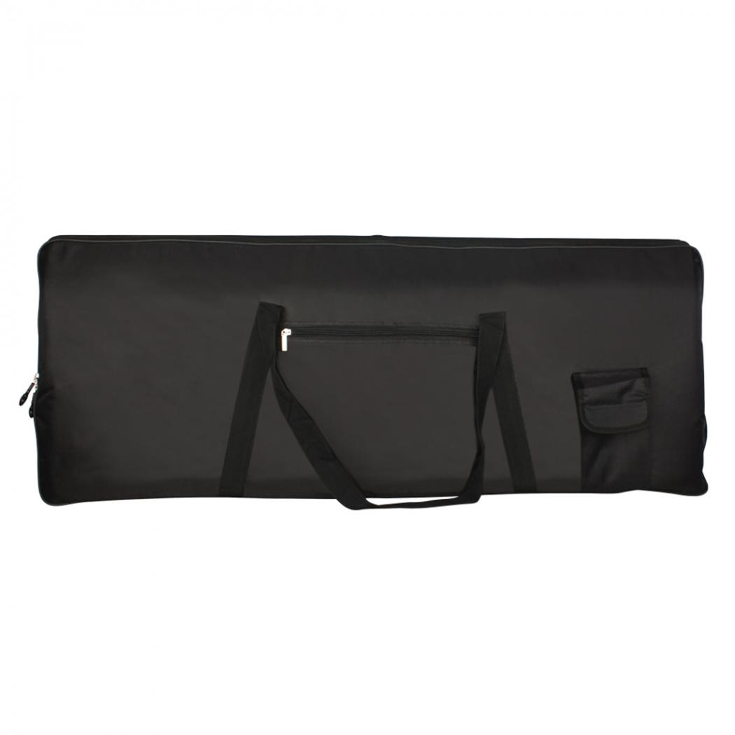 Black Portable Waterproof Piano Oxford Fabric Bag For 76 Keyboards Electronic Organ