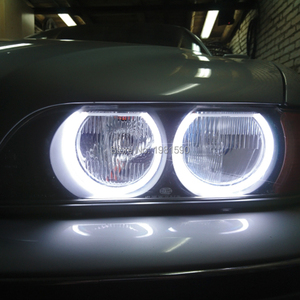 Image 2 - Hopstyling Dual Colore White+Yellow SMD LED Angel Eyes For BMW E36 E38 E39 E46 projector headlight Cotton Light Error Free
