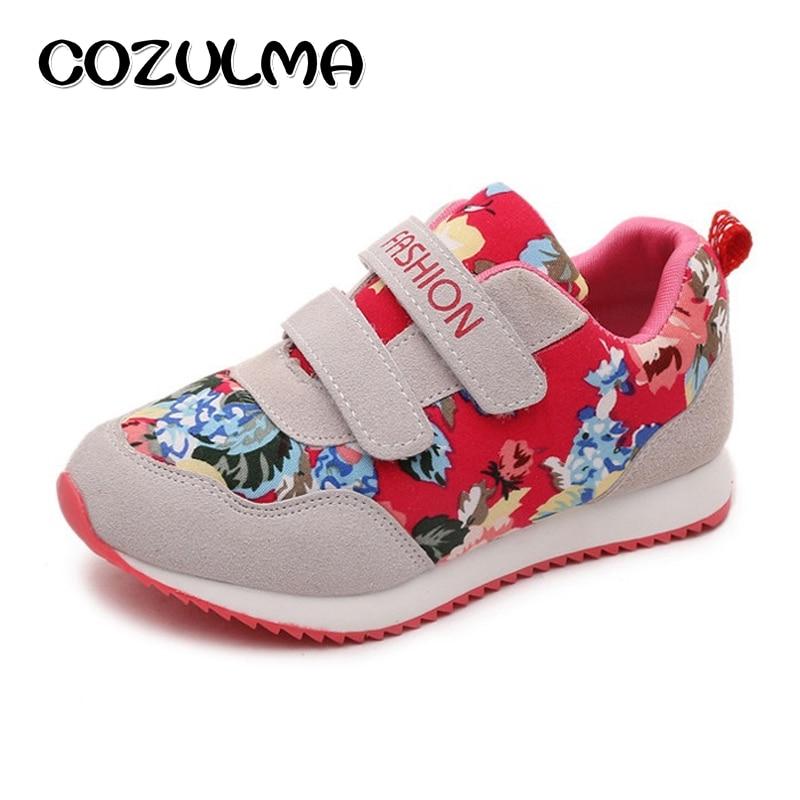 COZULMA Mærke Børn Casual Shoes Boys Girls Fashion Sneakers Efterår Style Pustende Kids Flat Sports Shoes Størrelse 26-36