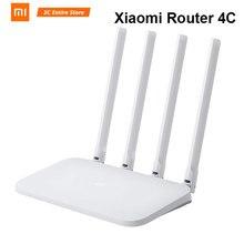 Оригинал Сяо mi Wi-Fi роутер 4C 64 оперативная память 802,11 b/g/n 2,4 г 300 Мбит/с 4 антенны Smart APP управление группа беспроводной маршрутизаторы ретранслятор