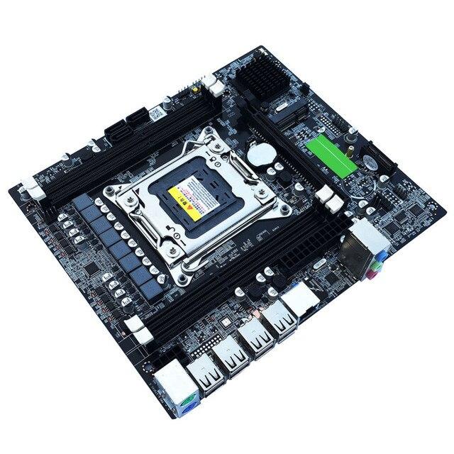 X79 E5 Desktop Computer Mainboard 2011 Dual Channels RECC Gaming Motherboard CPU Platform Support Octa Core LGA